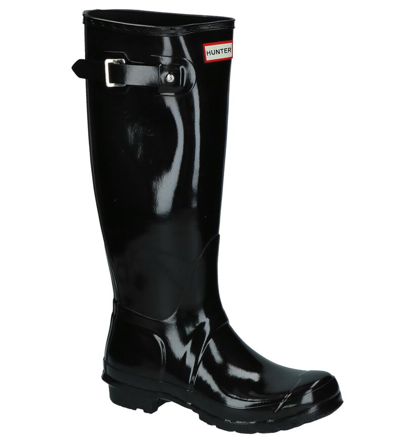 Blinkende Zwarte Hunter Regenlaarzen in rubber (226589)