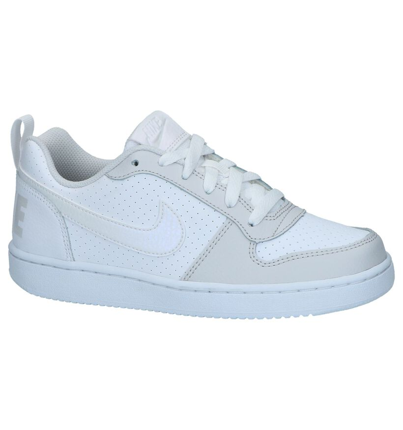 Nike Court Borough Baskets basses en Blanc en cuir (237867)