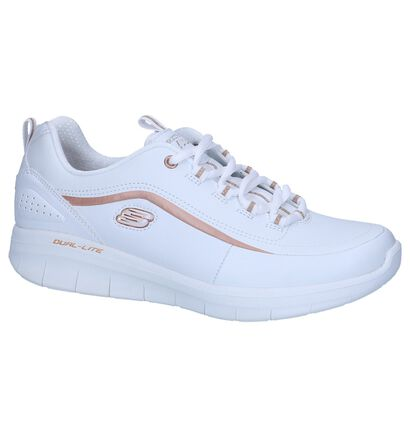 Witte Sneakers Skechers Syngergy 2.0 in leer (247153)