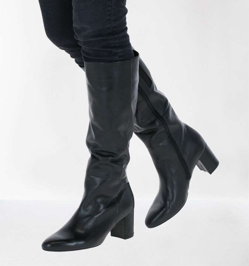 Gabor Bottes en Noir en cuir (260511)