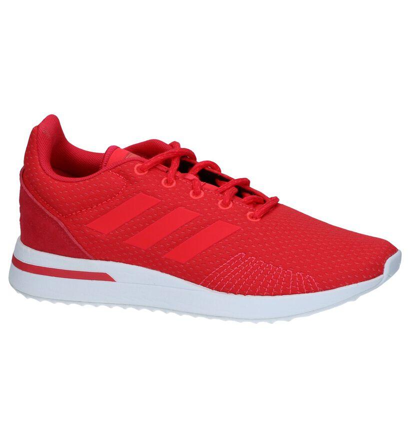 Run Baskets basses en Rouge en textile (237027)