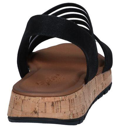Zwarte Sandalen Skechers Luxe Foam, Zwart, pdp