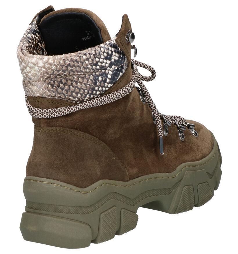 Via Limone Eloisa Kaki Boots in daim (262848)