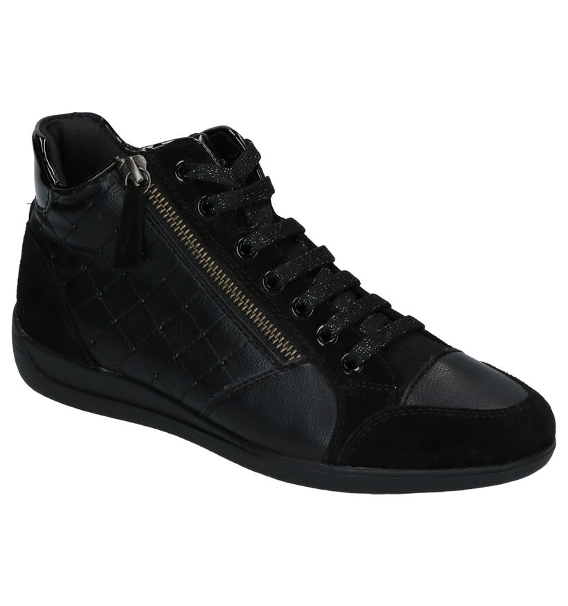 Geox Myria Baskets en Noir en simili cuir (253657)