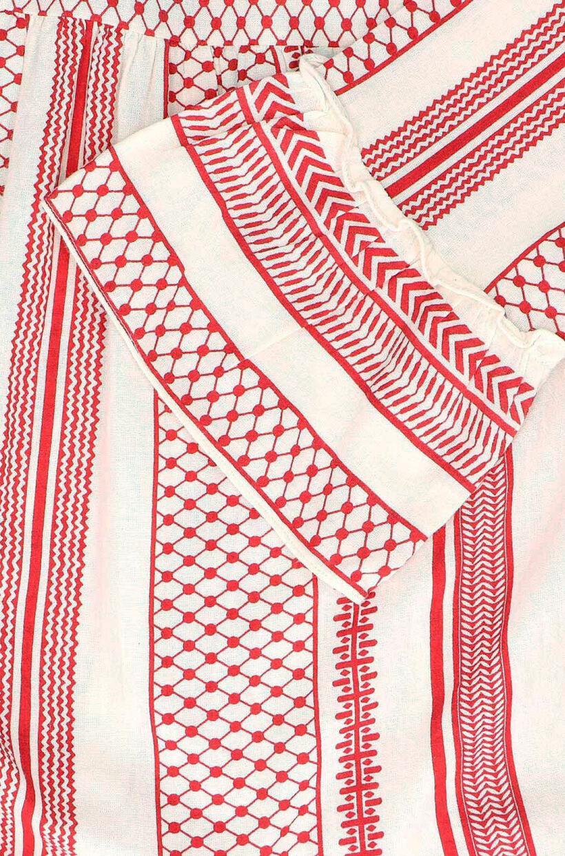 Vero Moda Dicthe Rood/Beige Kleedje (278220)