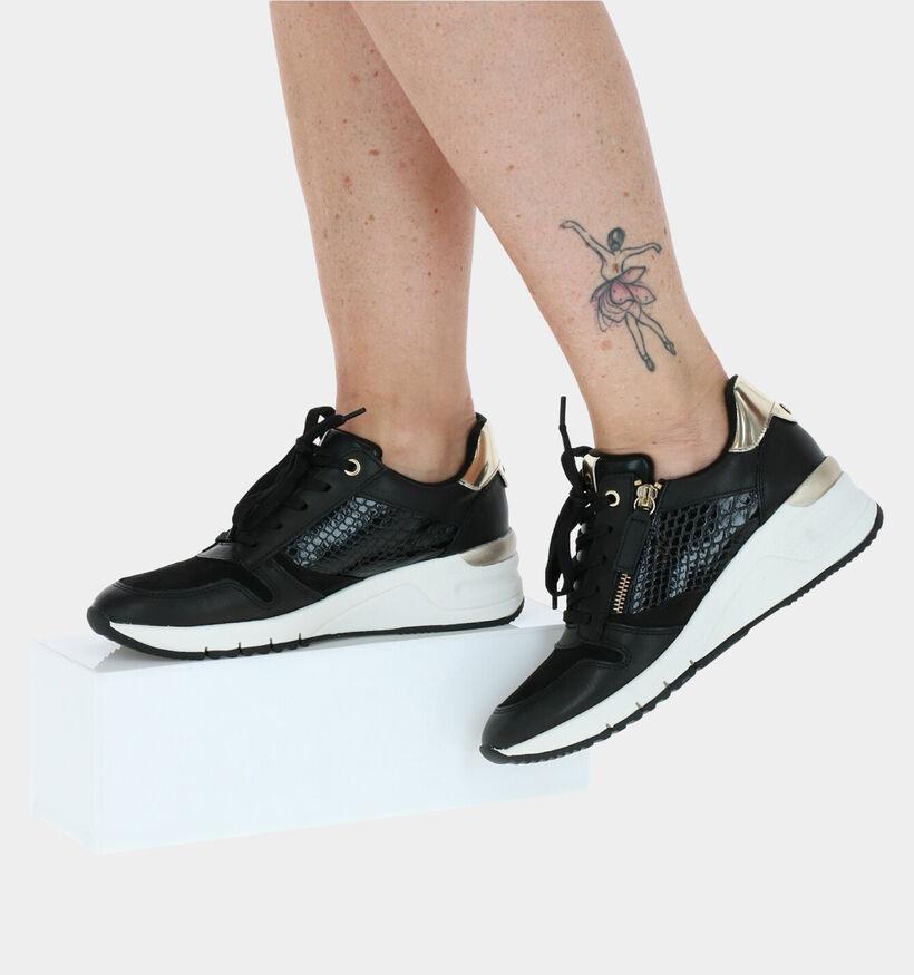 Tamaris Zwarte Sneakers in kunstleer (277353)