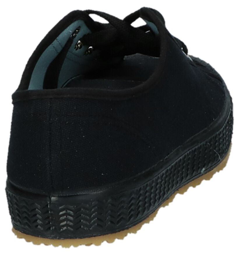 Komrads Baskets basses en Noir en textile (234044)