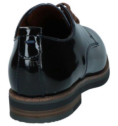 Marco Tozzi Chaussures à lacets en Bleu foncé en cuir verni (226386)