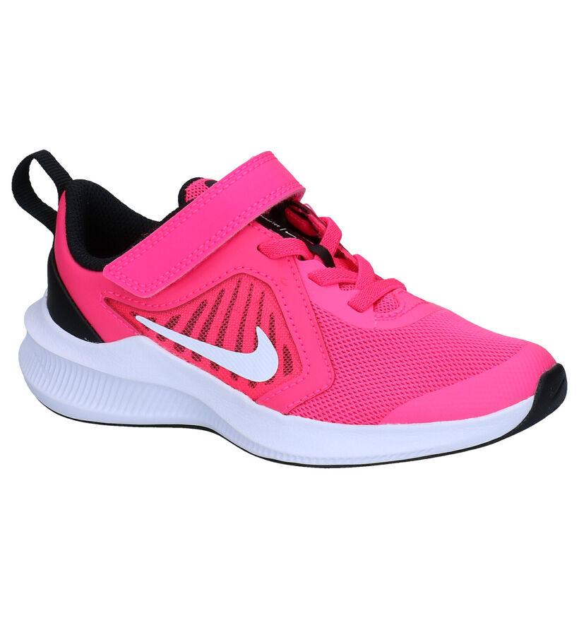 Nike Downshifter 10 PS Roze Sneakers in stof (277542)