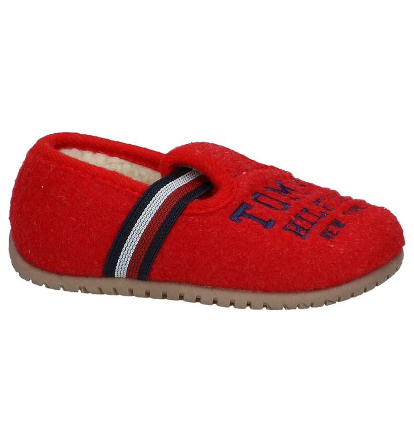 Tommy Hilfiger Pantoufles fermées en Rouge en textile (225268)