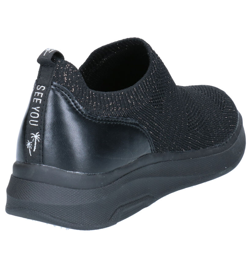 Dazzle Baskets slip-on en Noir en textile (274251)