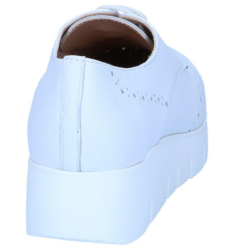 Unisa Chaussures à lacets en Blanc en cuir (249254)