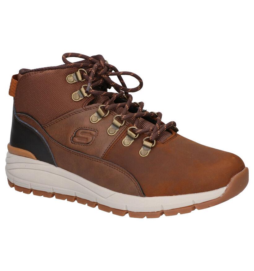 Skechers Volero Mix Chaussures hautes en Brun en textile (262812)