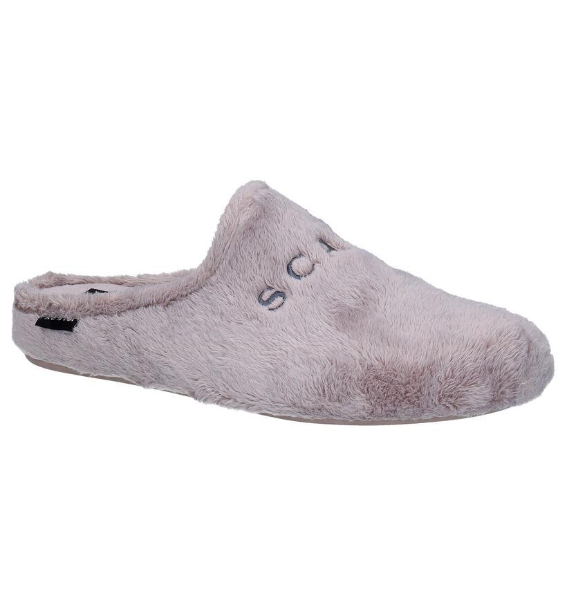 Scapa Beige Pantoffels in stof (281236)