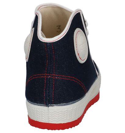 0051 Baskets hautes en Noir en textile (241151)