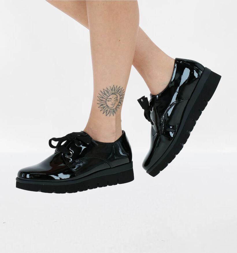 Gabor OptiFit Chaussures à lacets en Noir en cuir verni (282311)