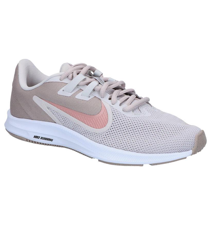 Nike Downshifter 9 Beige Sneakers in stof (253935)