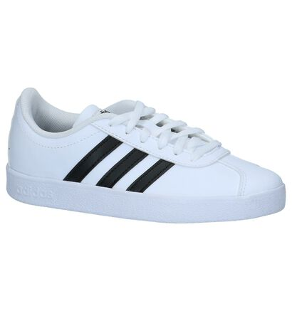 Witte Lage Sneakers adidas VL Court 2.0 K , Wit, pdp