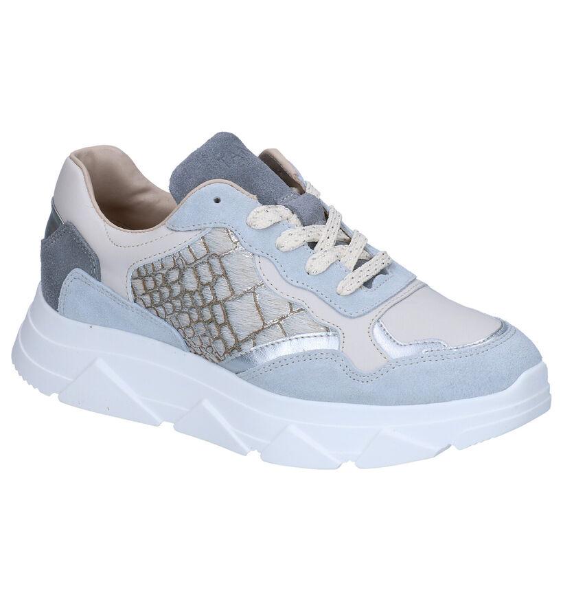 Tango Kady Fat Blauwe Sneakers in leer (298495)