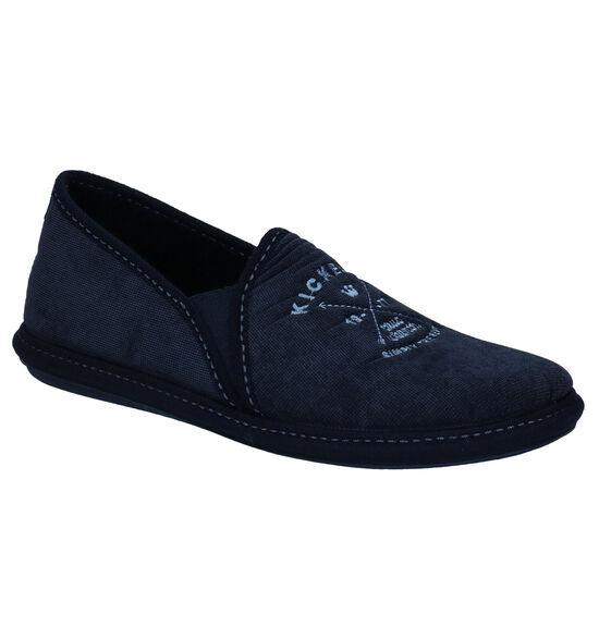 Kickers Blauwe Pantoffels
