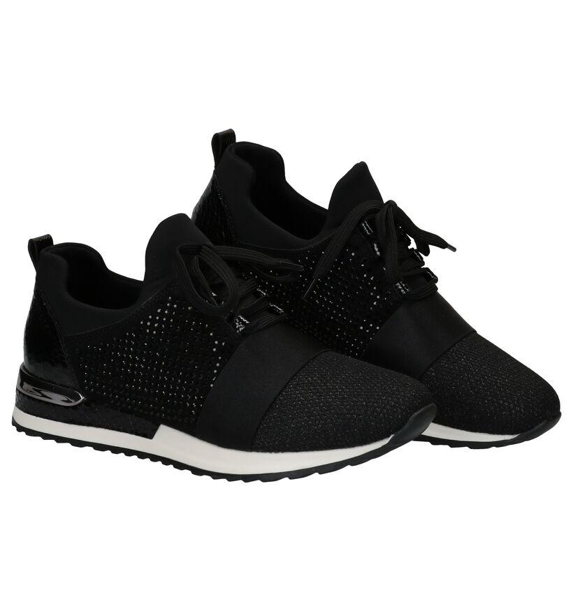 Remonte Zwarte Slip-on Sneakers in kunstleer (277637)