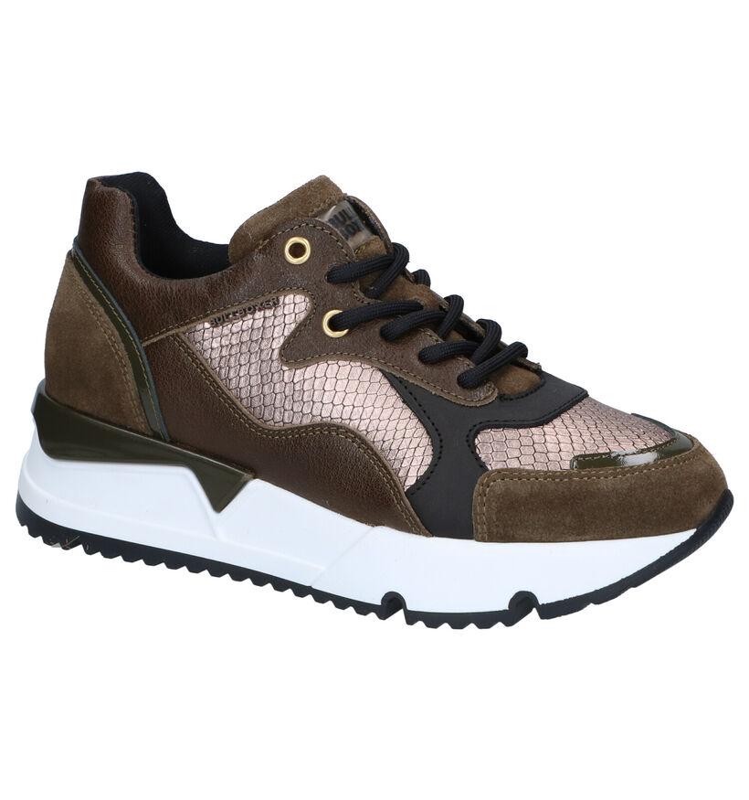 Bullboxer Chaussures à lacets en Vert kaki en cuir (281543)