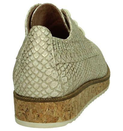 Marco Tozzi Chaussures à lacets en Or en simili cuir (193075)