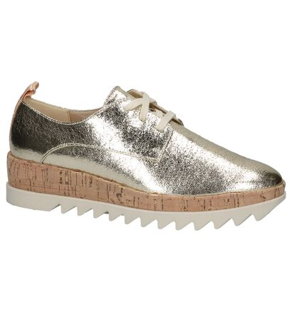 Gouden Veterschoenen Tommy Hilfiger Metallic Platform Lace Up , Goud, pdp