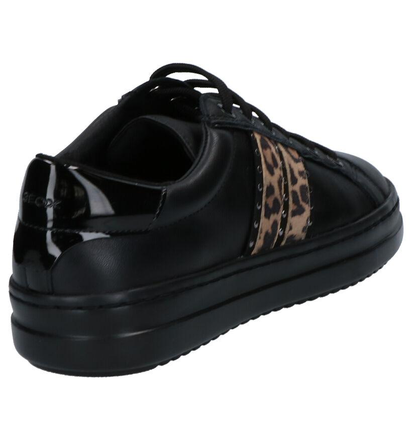 Geox Chaussures à lacets en Noir en cuir (255268)
