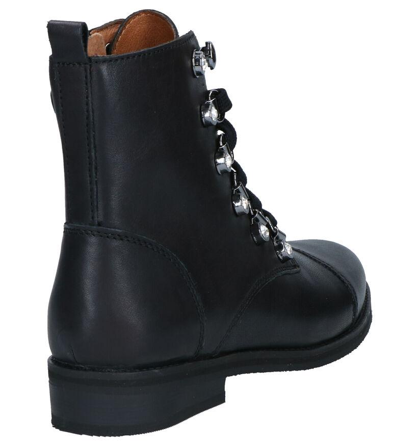 Milo & Mila Chaussures hautes en Noir en cuir (262023)