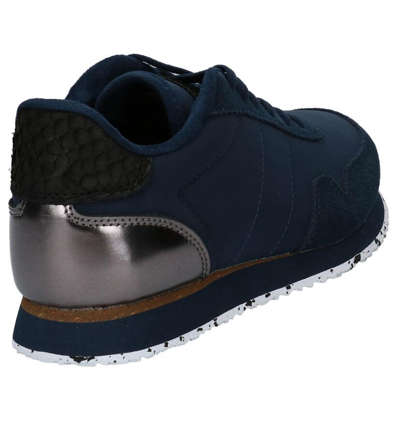 Woden Nora Blauwe Sneakers in stof (277417)