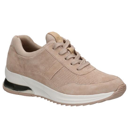 Tamaris Chaussures à lacets en Beige foncé