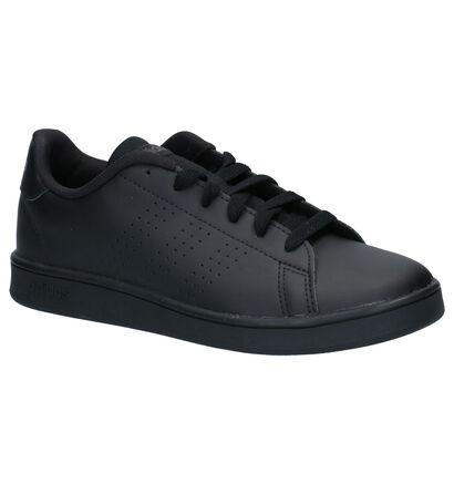 adidas Advantage Zwarte Sneakers in kunstleer (252540)