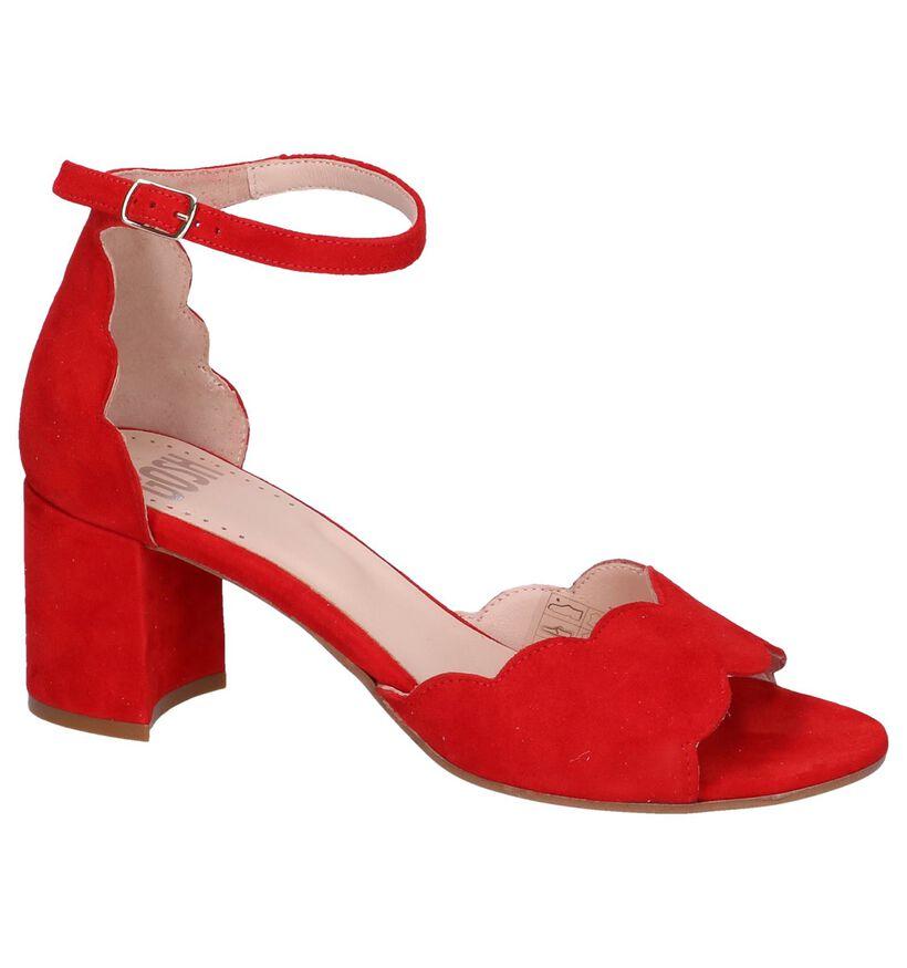 Gosh Sandales à talons en Rouge en daim (239122)