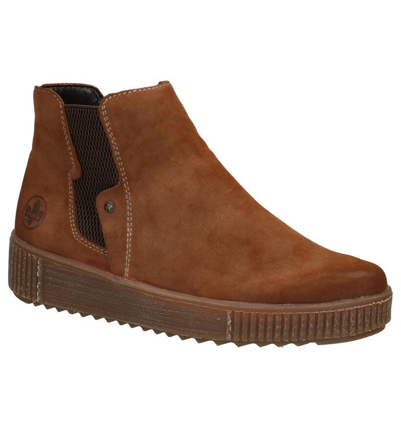 Rieker Cognac Chelsea Boots in stof (283991)