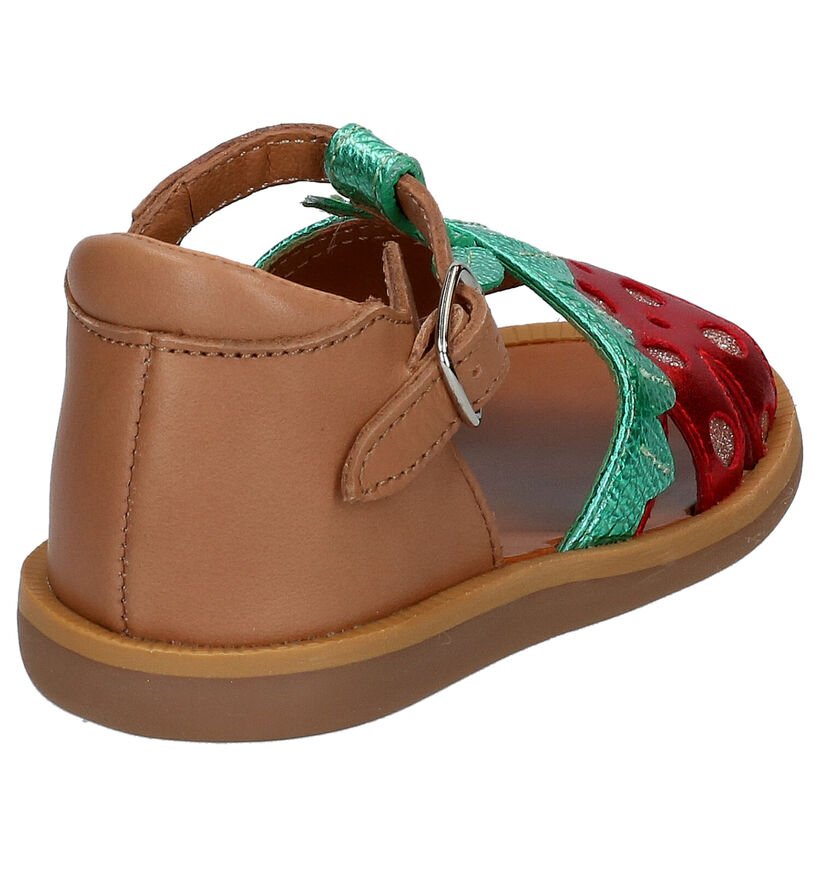 Pom d'Api Poppy Berry Cognac Sandaaltjes in leer (268793)