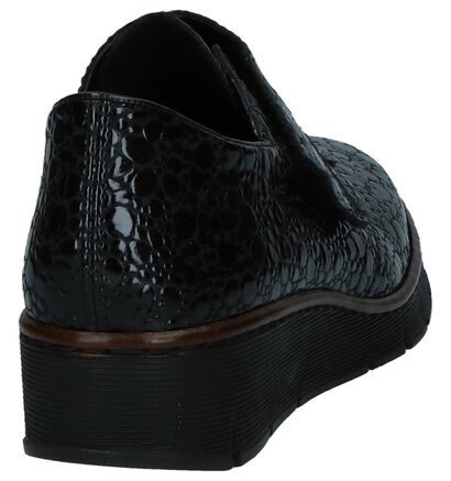 Zwarte Laké Velcroschoenen Rieker in kunstleer (234843)