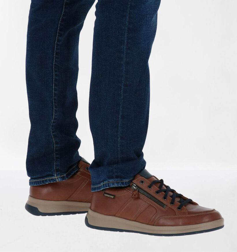 Mephisto Lisandro Chaussures à lacets en Cognac en cuir (281008)