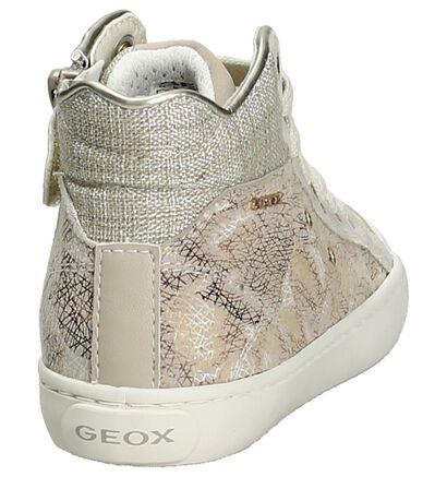 Geox Baskets hautes en Beige clair en simili cuir (190714)