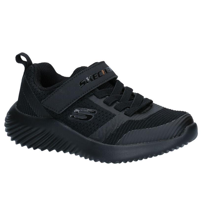 Skechers Bounder Blauwe Sneakers in kunstleer (287133)