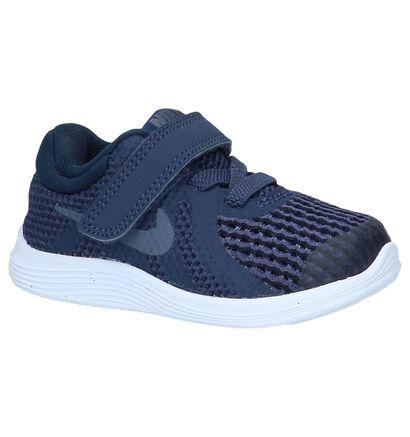 Nike Revolution 4 TDV Blauwe Sneakertjes in stof (219610)
