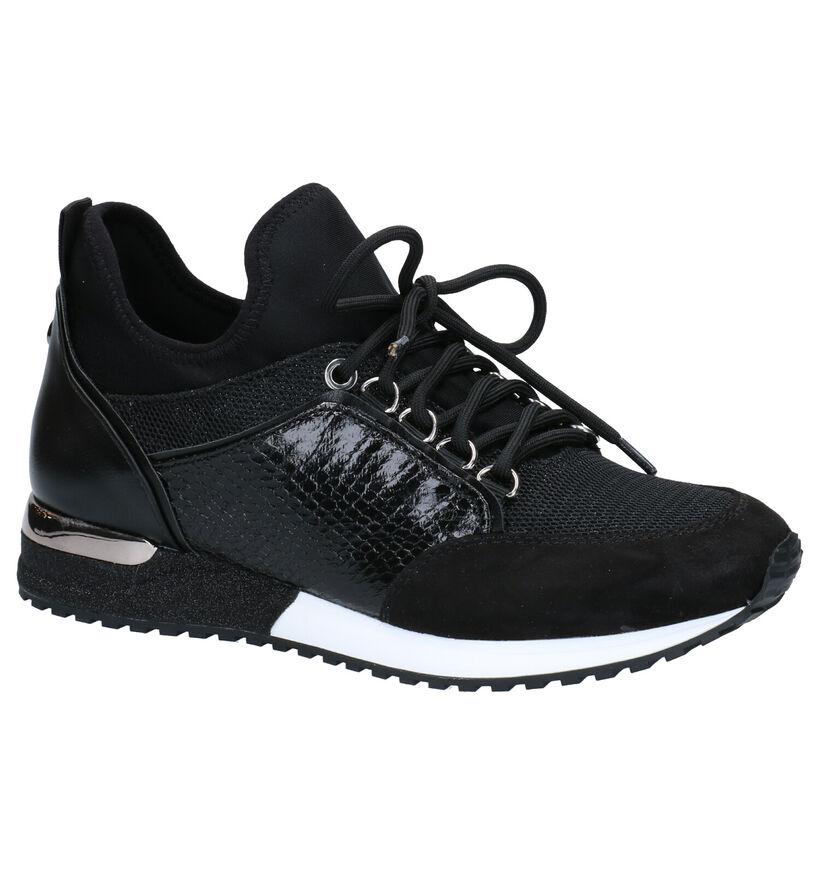 La Strada Baskets basses en Noir en textile (281700)