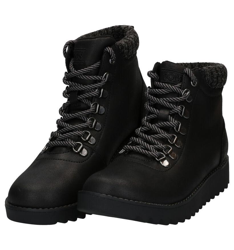 Skechers Bobs Bottines en Noir en simili cuir (279393)
