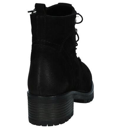 Zwarte Boots met Rits/Veter Baboos in leer (235323)