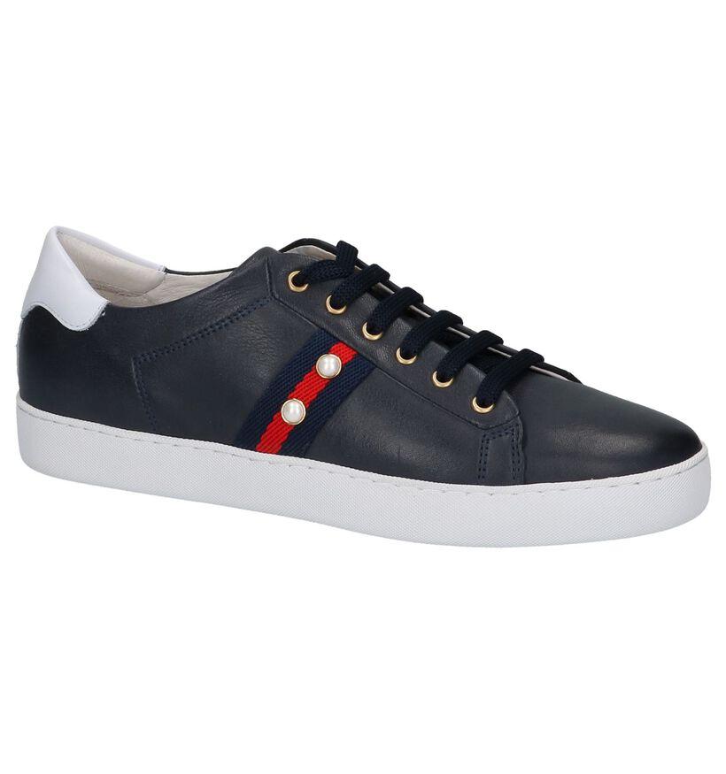 River Woods Chaussures à lacets en Bleu foncé en cuir (218018)