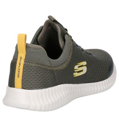 Skechers Elite Flex Belburn Zwarte Slip-on Sneakers in stof (254278)