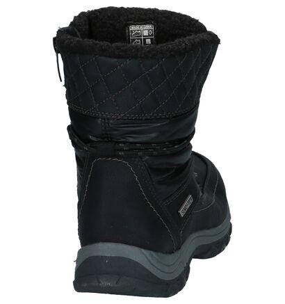 Dazzle Bottes de neige en Noir en imitation cuir (222478)
