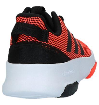 Donker Blauwe Sneakers adidas Cloudfoam Racer, Rood, pdp