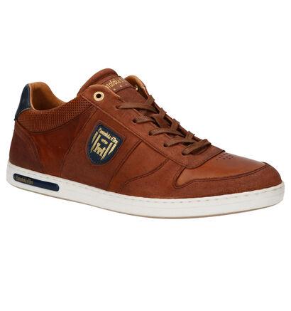 Pantofola d'Oro Milito Low Chaussures à Lacets en Bleu en cuir (267930)