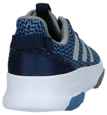 Blauwe Sneakers adidas Cloudfoam Racer TR K in stof (221645)